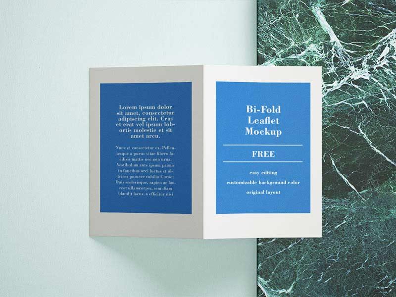 Free A4 bifold Mockup - Mockups Design
