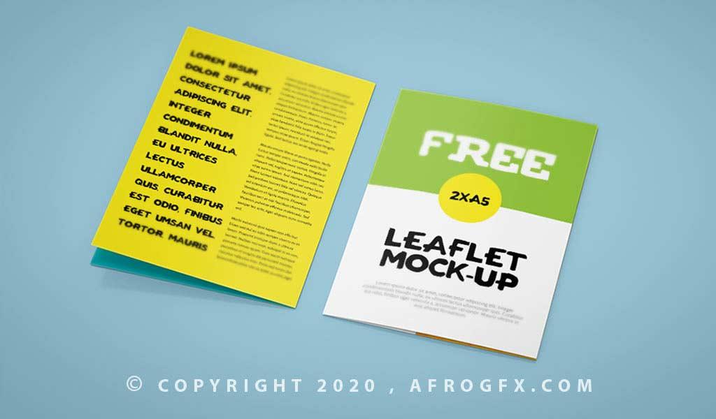Double A5 Leaflet Mockup