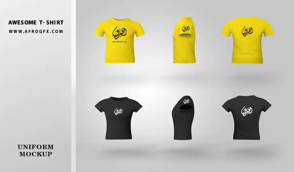 Awesome T-Shirt Mock-up & PSD Free Download