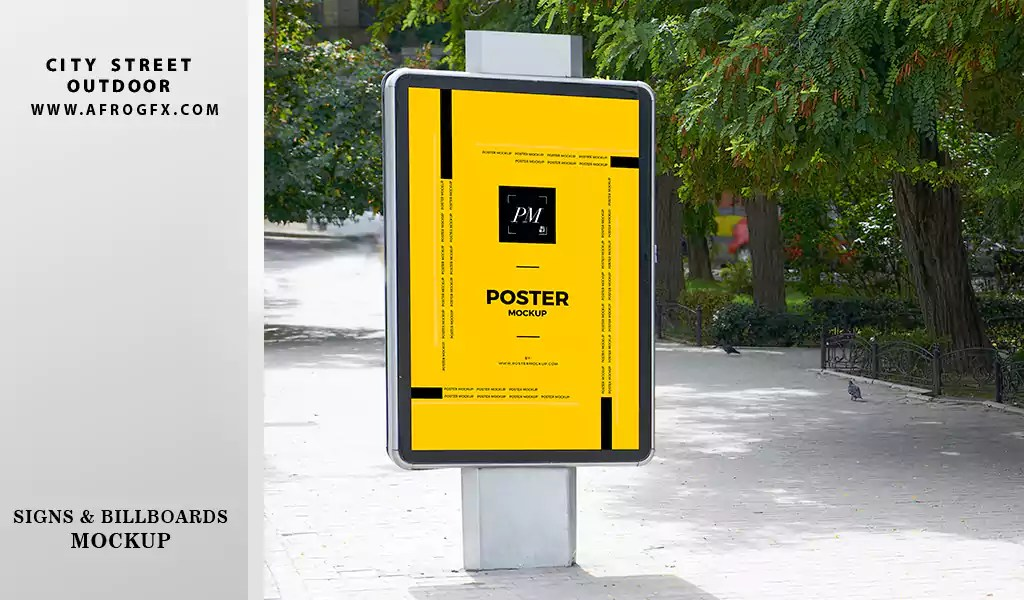 City Street Outdoor Advertising Billboards and Posters Mockup