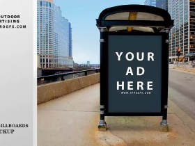 Modern Free Bus Outdoor Advertising PSD Mockups for Designers