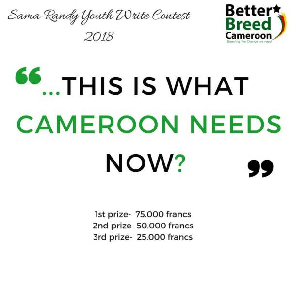 Better Breed Cameroon Launches 2018 Sama Youth Write Contest