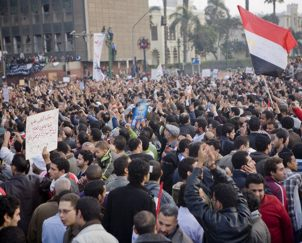 Protests on Tahrir Square, 2 February 2011