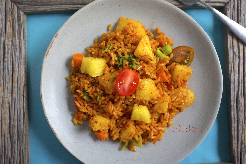 Pineapple jollof rice afrolems nigerian food blog nigerian pineapple jollof rice ccuart Choice Image