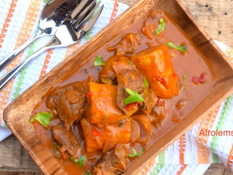 Other african recipes archives afrolems nigerian food blog ethiopian plantain and beef stew forumfinder Image collections