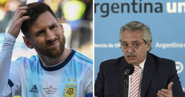 """""""Return home and end your football career"""", Argentine President tell Messi"""