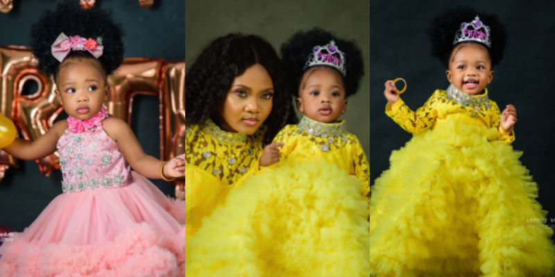 Ex beauty queen, Glory Brown shares lovely photos of her daughter as she clocks 1