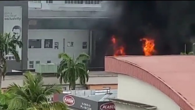 LASEMA speaks on the fire incident at Access Bank, Victoria Island