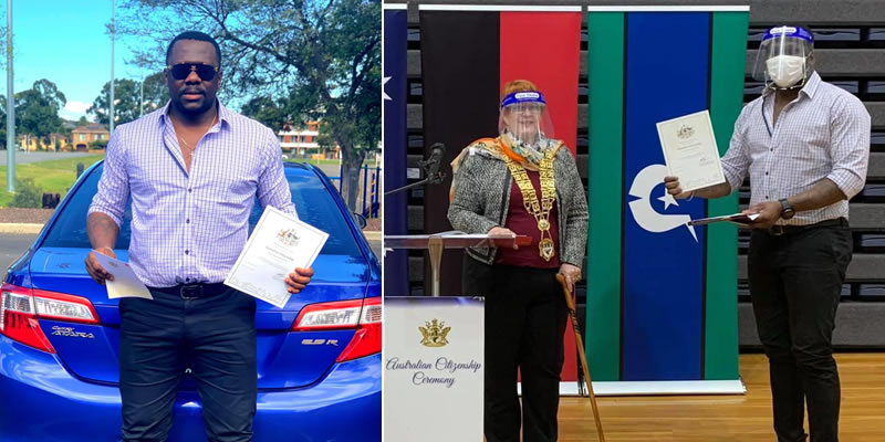 Nigerian fitness trainer and businessman celebrates as he becomes Australian citizen 8-yrs after migration