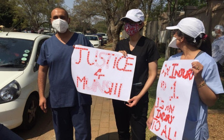 Patient's father who took Dr Munshi to court denies being involved in his murder