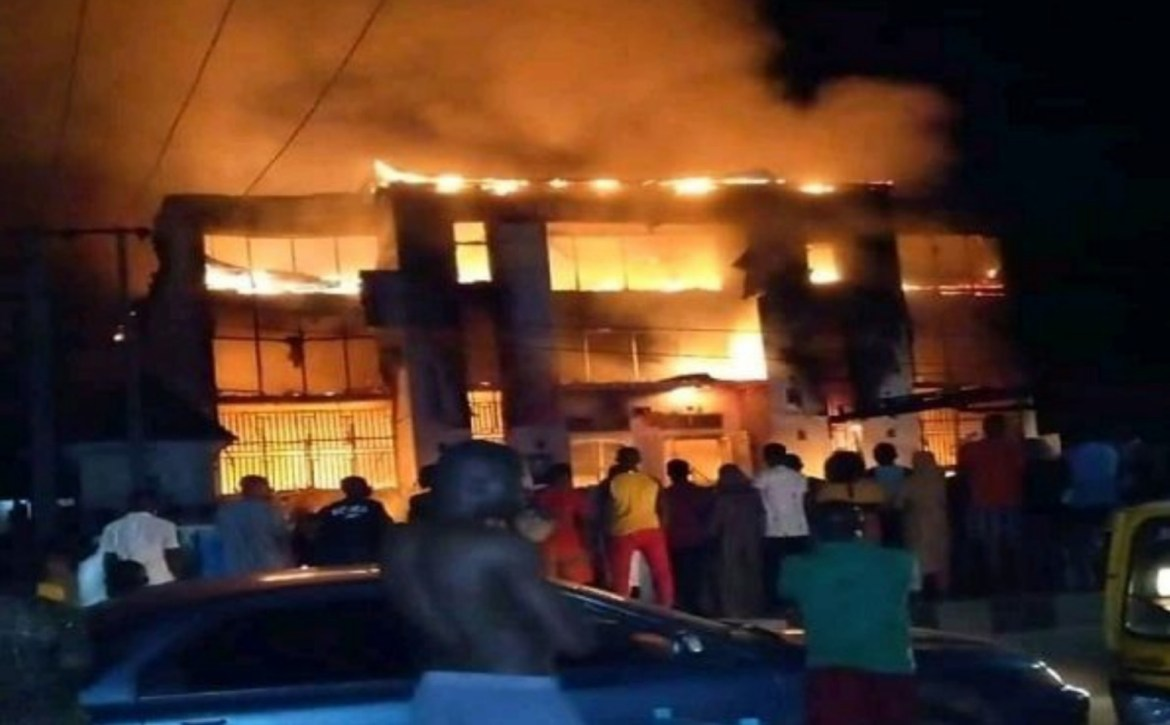 Another Inferno hit Lokoja as fire engulfed largest electronic mall