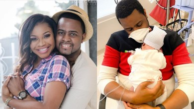 DJ Exclusive finally welcomes baby with wife, Tinuke after 5 years of marriage