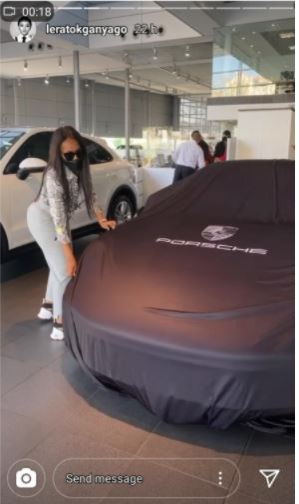 Lerato Kganyago acquires brand new Porshe