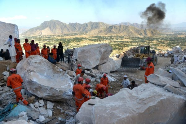 18 miners killed more trapped in Pakistan rockslide