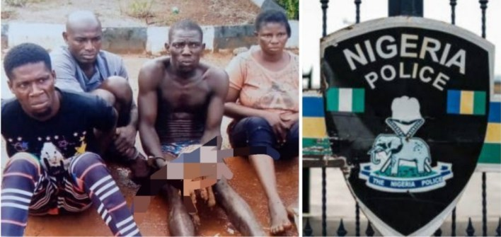 Police arrest four with human skull in Ogun