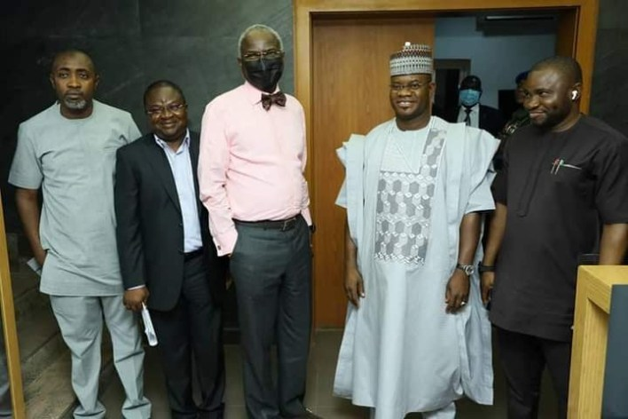 Yahaya Bello visits Fashola, reveals cause of  Lokoja tanker explosion