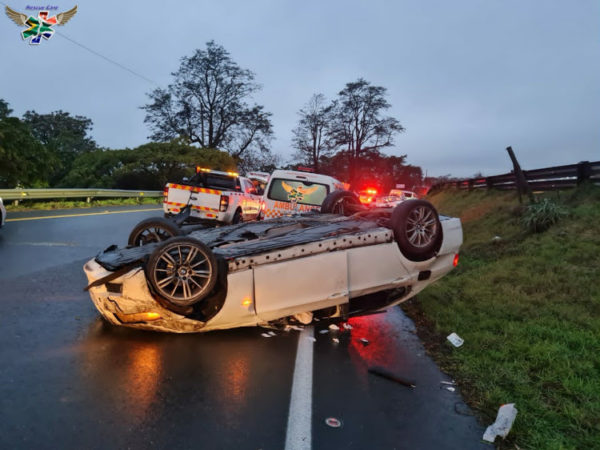 Durban paramedic seriously injured after car crashes into ambulance on accident scene