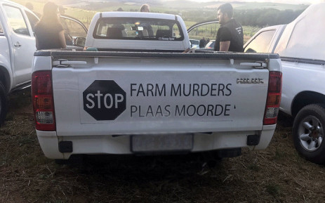 Several people take steps to Union Buildings to protest farm murders