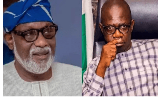 Akeredolu completely ignores deputy at Peace Accord signing ahead of Governorship Election