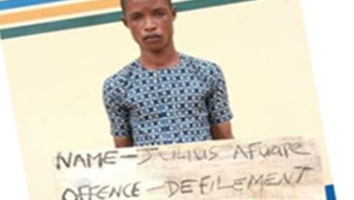 Artisan rapes a 13yr old girl after tricking her into believing he's there to fix their generator