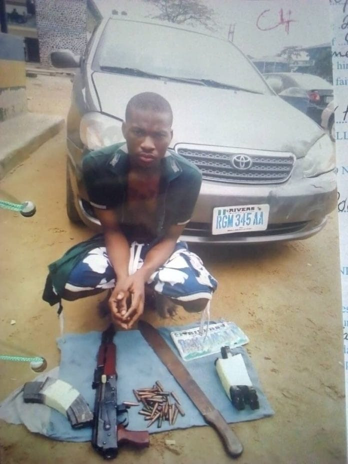 Court remands 23-yr-old man over car snatching, possession of Ak 47 in Rivers