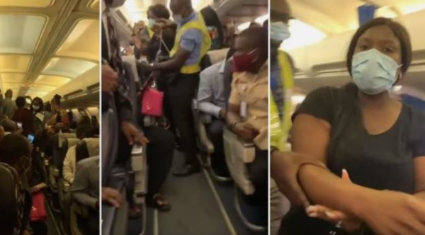 Viral video of dramatic lady who delays flight because of her expensive bag – Watch