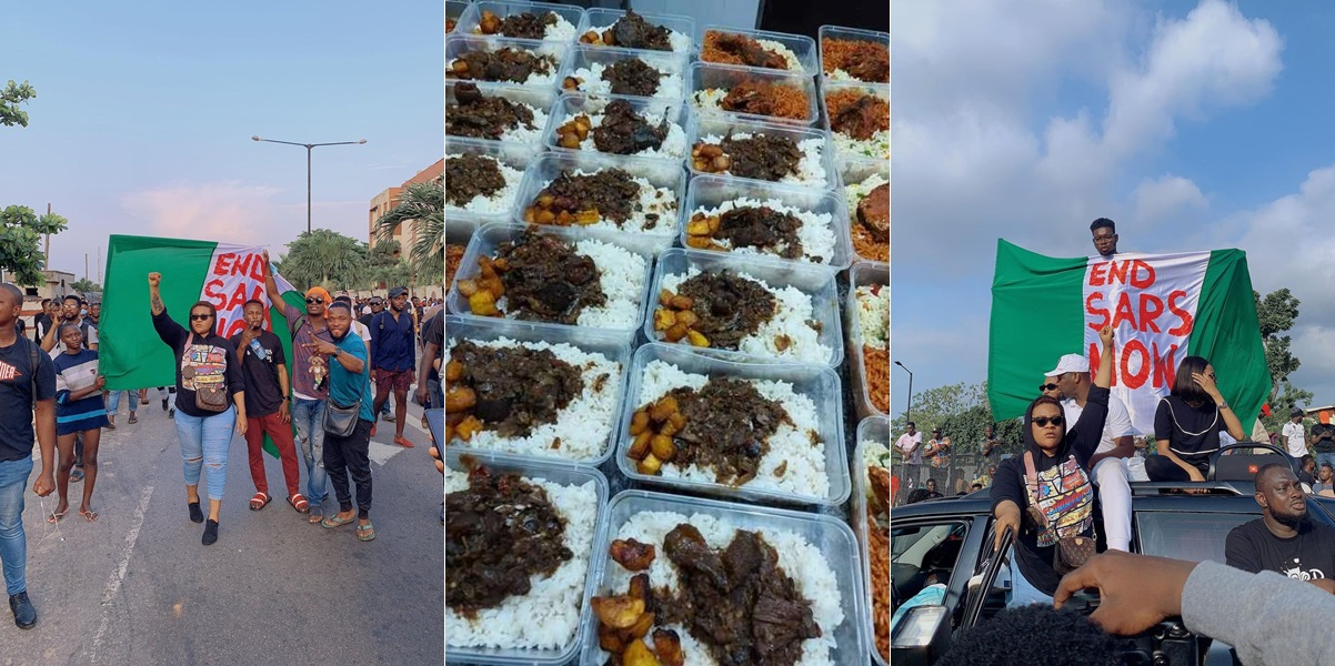 #EndSARS: Mind What You Eat At Protest Ground – Nkechi Blessing Warns