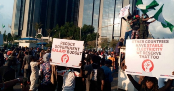 #EndSARS protesters block CBN head office