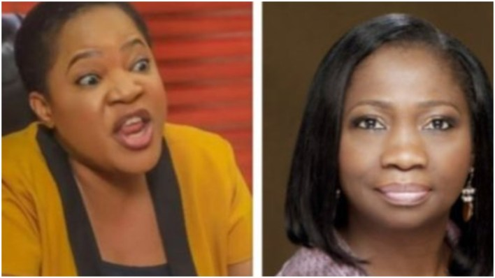 #EndSars: Drama as Toyin Abraham calls out Abike Dabiri for blocking her on social media