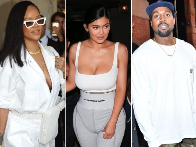 Kanye West, Rihanna, Kylie Jenner On List Of The Highest Earning Global Celebrities