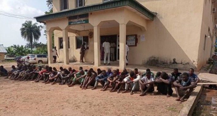 Looting: Police parade 87 suspects in Osun