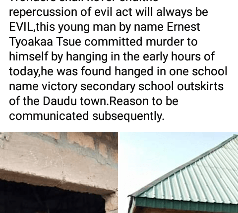 Man commits suicide in Benue