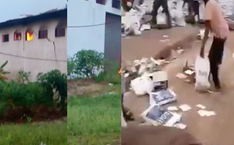Mob Set Fire To Warehouse Containing Undistributed COVID-19 Palliatives In Ondo, Two Persons Shot Dead