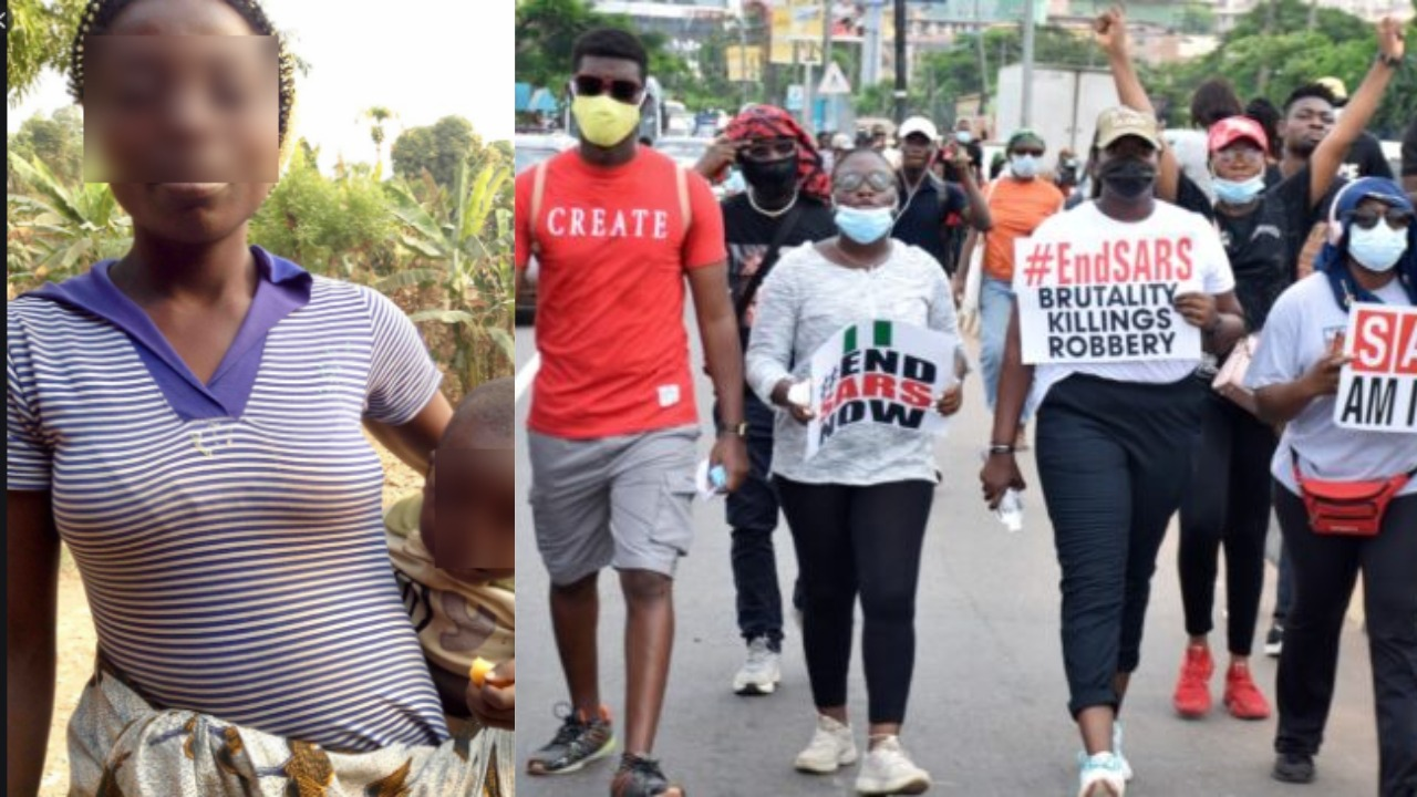 Nigerians blast woman who forgot her child at Abuja #EndSars protest