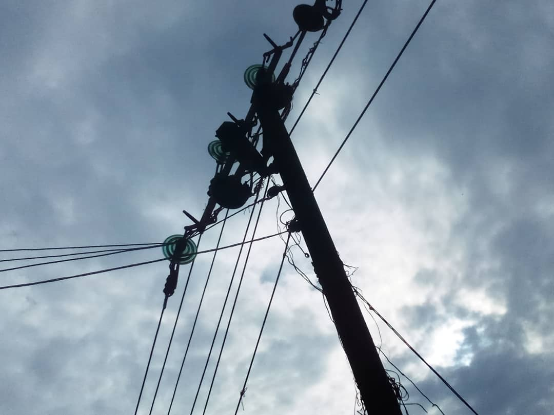 PHOTOS: Tragedy averted as fire guts electric pole in Osun