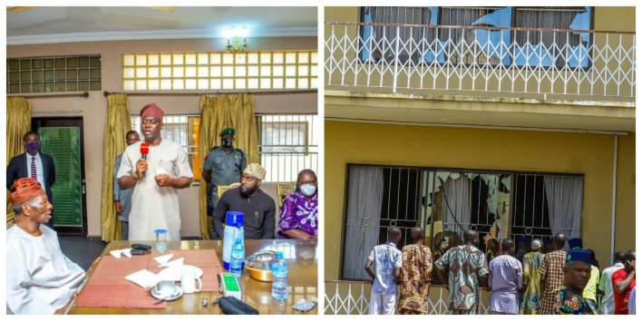 Seyi Makinde dragged silly for donating N100m for renovation of Soun of Ogbomoso's palace