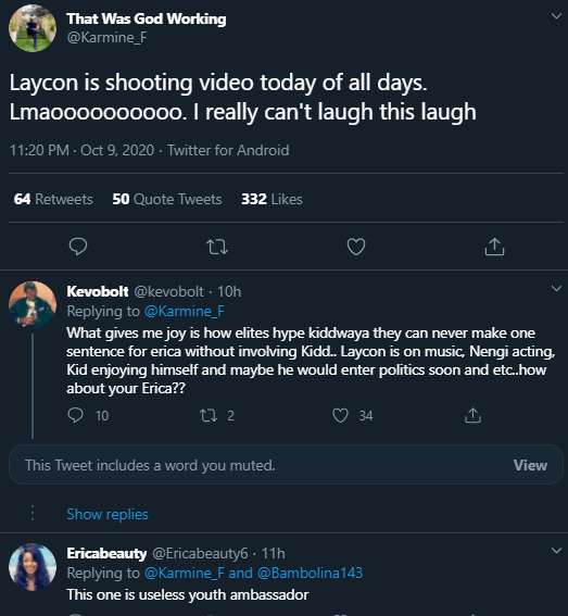 Useless Youth Ambassador– Nigerians call out Laycon for shooting music video amid nationwide EndSARS protests