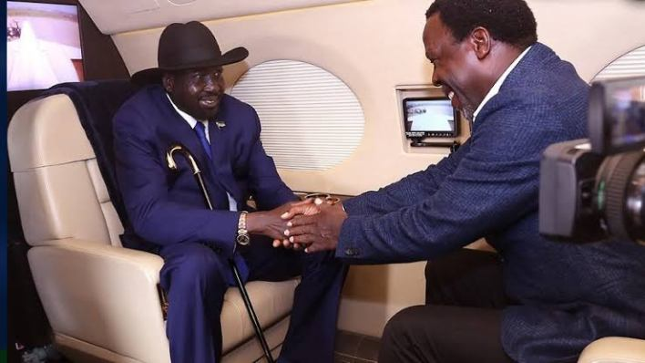 """Your prophecy came to pass"" – South Sudan President invites T.B Joshua for prophetic intervention again"