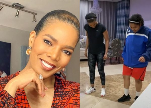 "Connie Ferguson excited as ""tomboy"" Ali wears a dress for the 1st time"