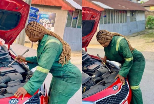 """Mzansi mock female """"mechanic"""" over slaying wrongly with a wheel spanner"""
