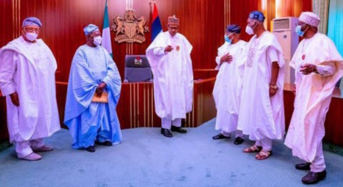 Akande, Osoba meet Buhari at Aso Villa
