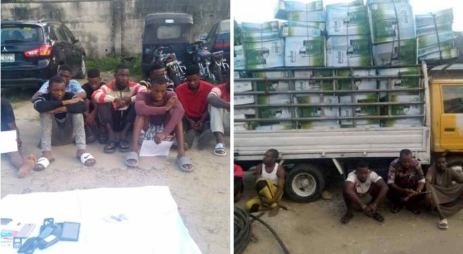 Cross River Police parade suspected Kidnapper, 14 others for cultism, vandalism