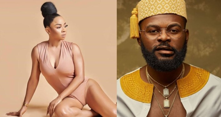 """Falz let's marry"" – Toke Makinwa reacts after a 'find a man' conversation with nephew"