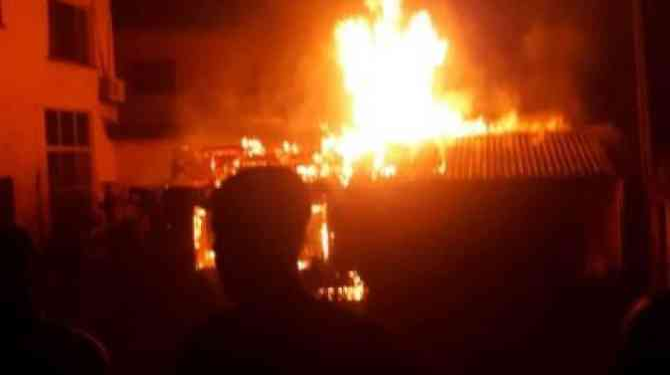 10 hospitalized as fire raze down storey building in Ebonyi