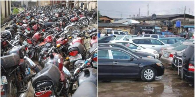 Lagos State to auction 44 cars, bikes seized due to traffic offences
