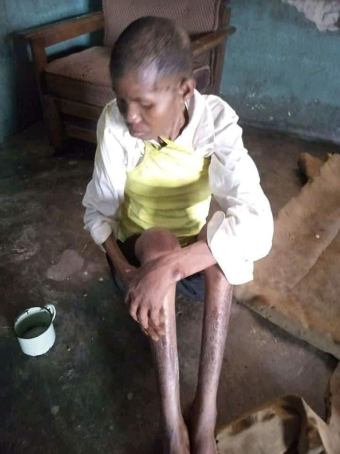 PHOTOS: Man Cage Wife For Over 3-years After She Was Accused Of Witchcraft In Delta