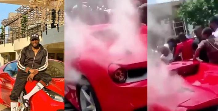 Late Ginimbi's Ferrari overheats as it was driven to his farewell ceremony