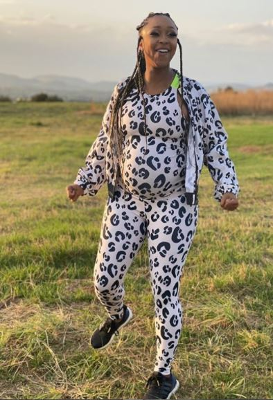 Photo: Minnie Dlamini on her 9th month of being pregnant