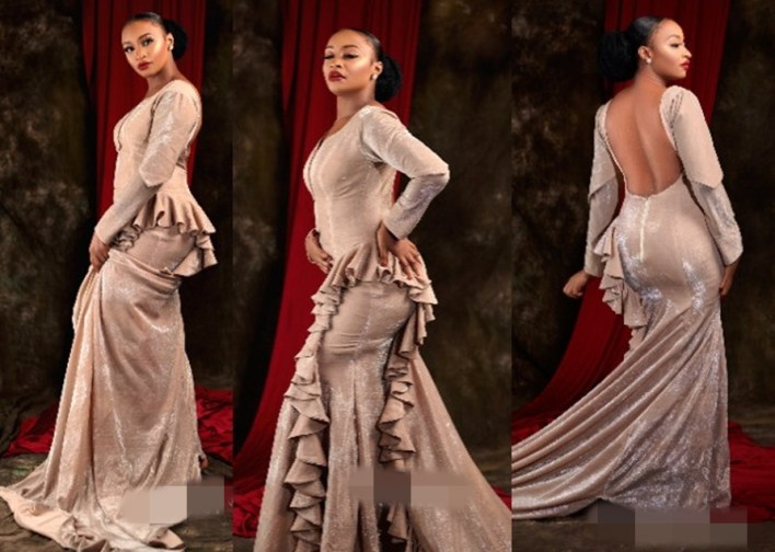 """""""This is devil's dress"""" – Arewa Twitter users drag actress Rahama Sadau over her backless dress"""