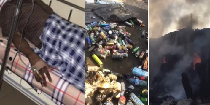 VIDEO: Fire razes stores in Akure, Supermarket owner hospitalized after hearing news